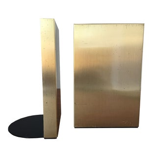Mid-Century Brass Bookends - A Pair
