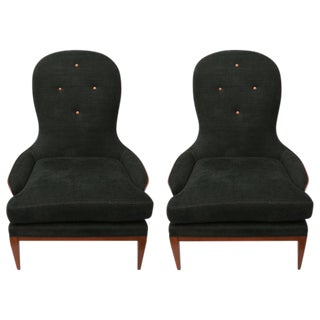 Pair of Lounge Chairs Designed by Andre Arbus for William Switzer