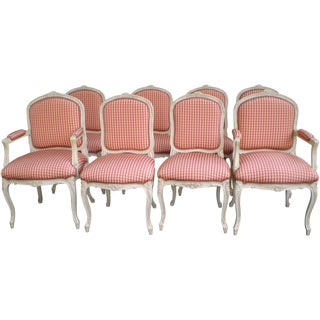 Louis XV Style Dining Chairs - Set of 8