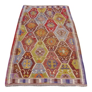 Vintage Kilim Rug -4′8″ × 8′5″