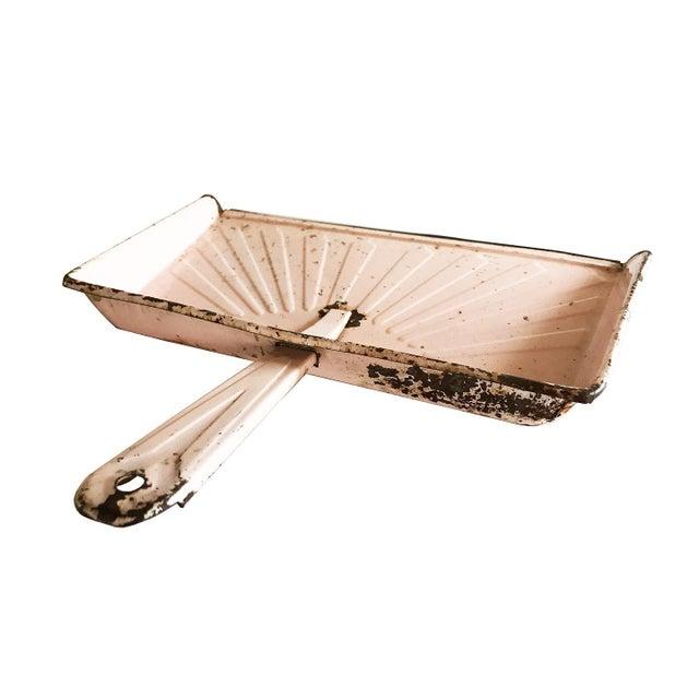 Image of Vintage Pink Metal Dustpan