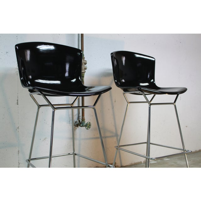 Image of Early Knoll Bertoia Fiberglass Bar Stools - A Pair