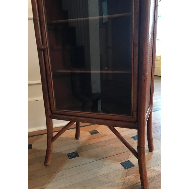 Wicker and Bamboo Maitland Smith Cabinet - Image 7 of 9