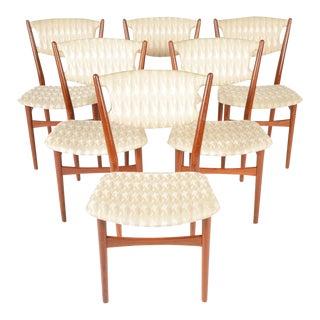 Danish Finn Juhl Style Dining Chairs - Set of 6