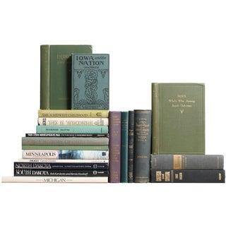 Vintage Midwestern Book Decor - Set of 20