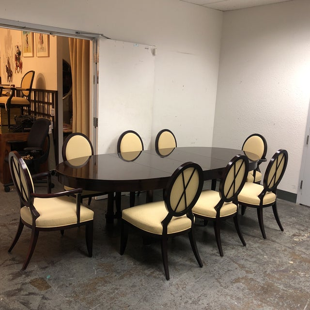Barbara Barry Oval Dining Table & 8 Chairs for Baker - Set of 9 - Image 8 of 8