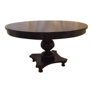 Ebonized Pedestal Dining Table