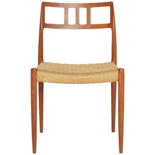 Teak and Woven Cord Chair by Niels Moller