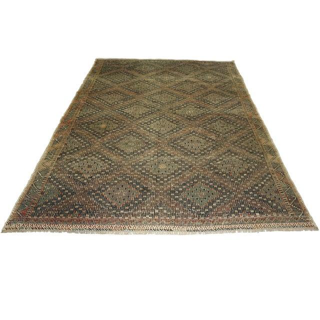 Earthy Vintage Turkish Flatweave Kilim - 6' X 9'6 - Image 5 of 6