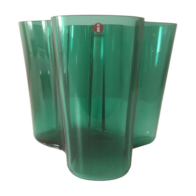 Iittala Short Emerald Green Aalto Vase - Image 1 of 5