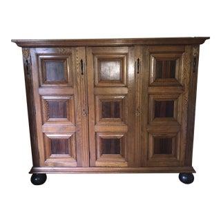 Craftsman Style Oak Oversized Cabinet