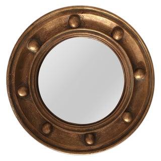 Federalist Style Gold Convex Mirror