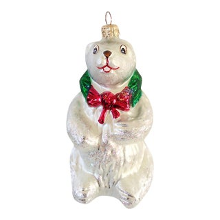 Christopher Radko Polar Bear Glass Ornament