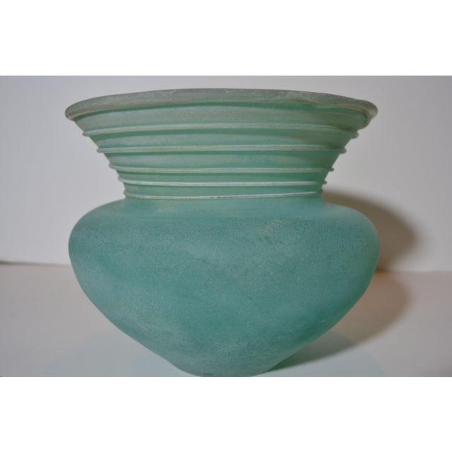 Signed Seguso Scavo Glass Vase - Image 2 of 5