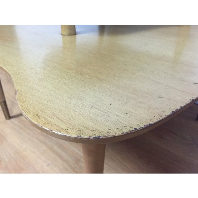 Bleached Mahogany Two Tiered Corner Table - Image 8 of 10
