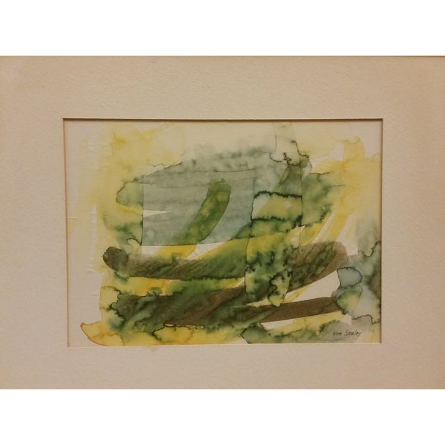 Abstract Expressionist Watercolor Painting - Image 4 of 5