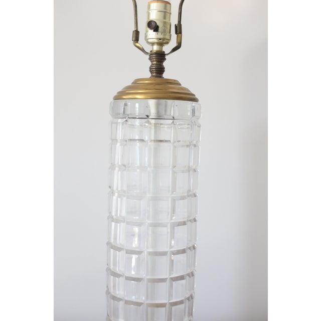 Image of Vintage Hollywood Regency Tall Cut Crystal Geyer Dresden Lamp