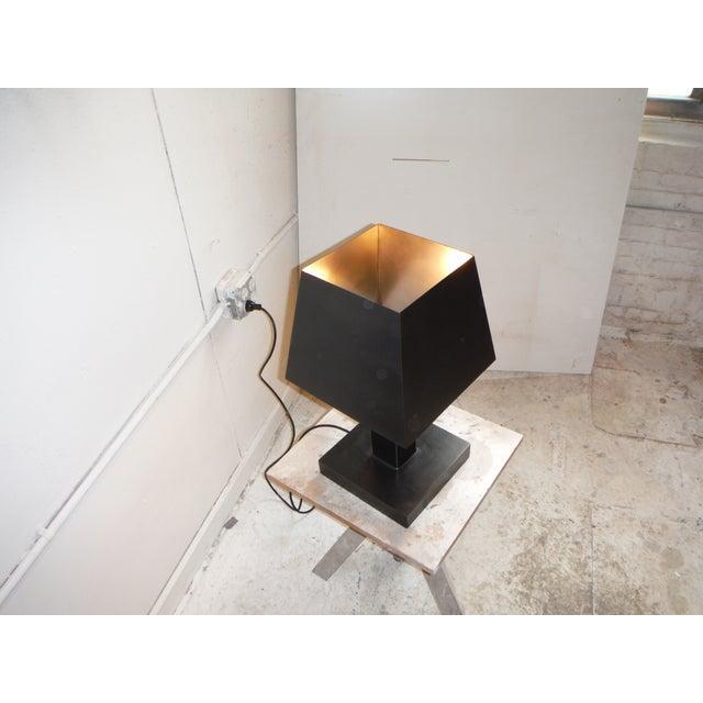 Deco Inspired Steel/Bronze Concorde Table Lamp #2 - Image 2 of 5