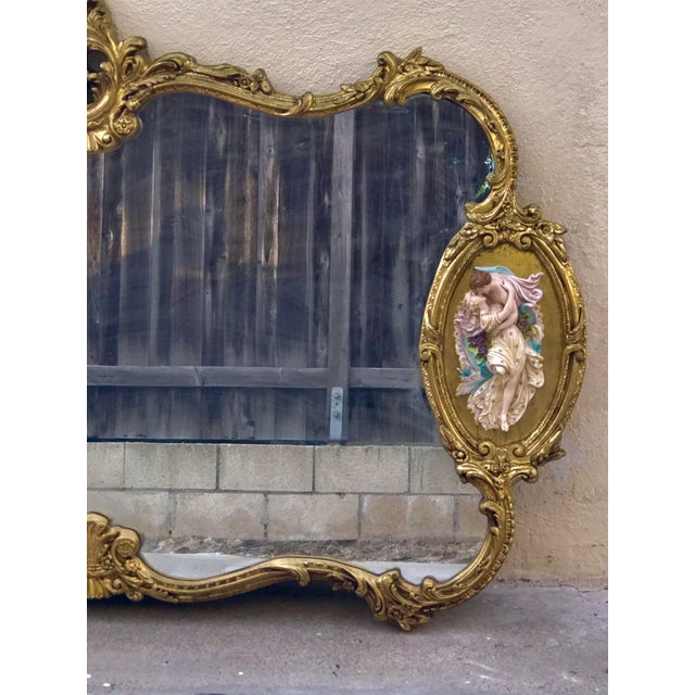 Antique Italian Baroque Gold Gilded Mirror - Image 5 of 11