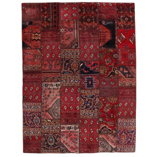 Pasargad N Y Persian Patch-Work Hand-Knotted Area Rug - 6′ × 8′