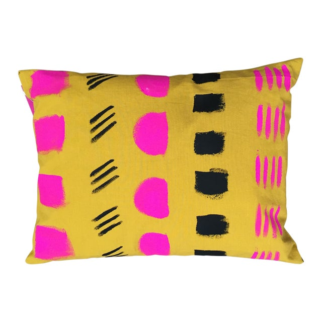 Image of Hand-Painted Organic Cotton Pillow