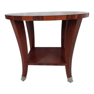 "Modern Mahogany Baker Table (30""Dia) from Gorgeous CT., Estate Featured in Veranda Magazine"