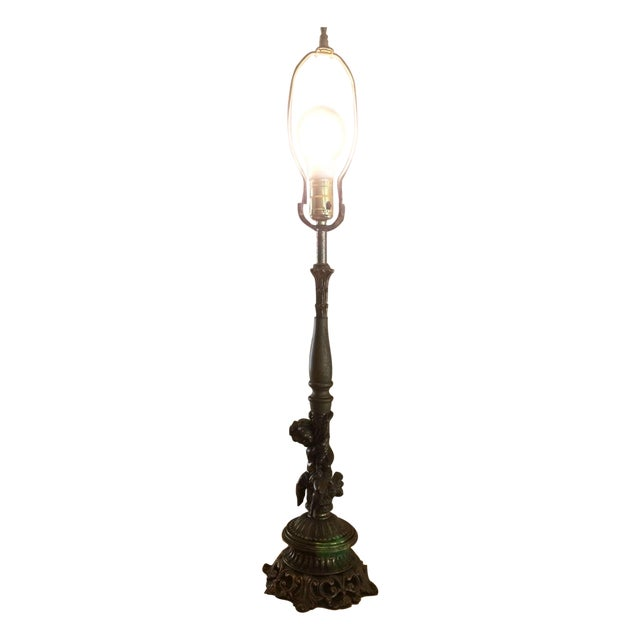 Antique Cornell Cherub Lamp No. 1116 - Image 1 of 11