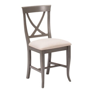 Sarreid LTD Linen X-Back Side Chair