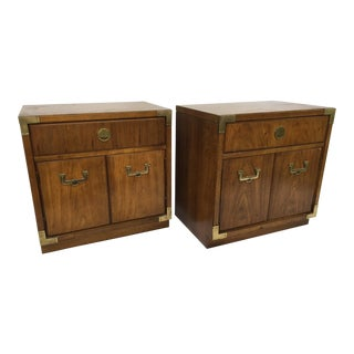 Thomasville Huntley Campaign Nightstand - A Pair