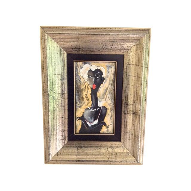 Image of Viktor Sheleg Night Girl Oil Signed Original