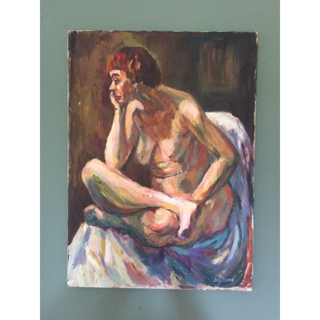 1960's Mid Century Female Nude Painting - Image 2 of 6