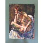 Image of 1960's Mid Century Female Nude Painting