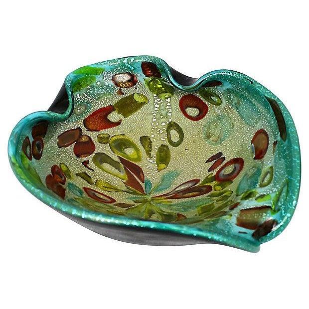 Murano Aventurine Turquoise Bowl - Image 2 of 7