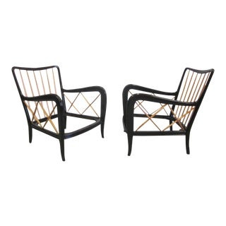 Pair of Modern Neoclassical Armchairs Attributed to Paolo Buffa