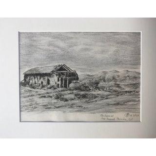 1923 Mission San Fernando Barn Drawing