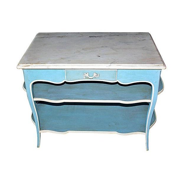 Image of Painted Marble Top Serving Table