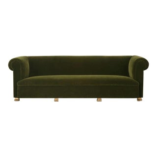 Custom French Sofa with Gold-Plated Feet
