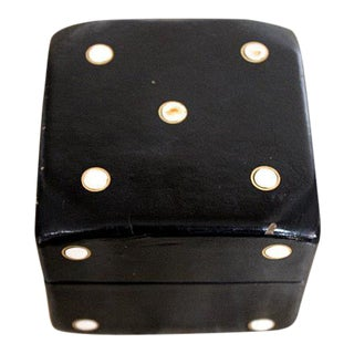 Vintage Leather Covered Dice Box