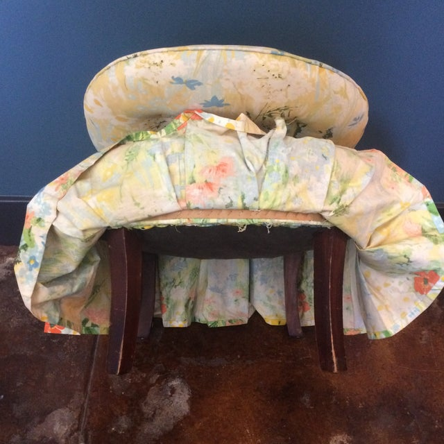 Vintage Floral Folding Chair - Image 8 of 9