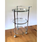 Image of Chrome and Glass 1970s Bar Cart