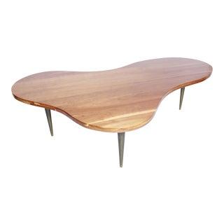 Biomorphic Walnut Table by T.h. Robsjohn Gibbings