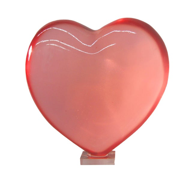 Carved Heart Statue Decorative Object & Paper Weight - Image 1 of 3
