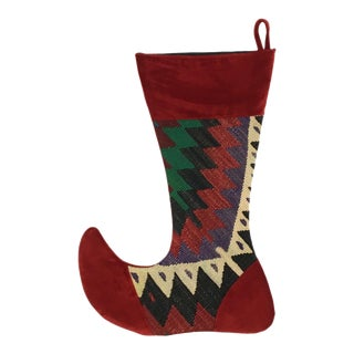 Large Kilim Christmas Stocking | Tinsel