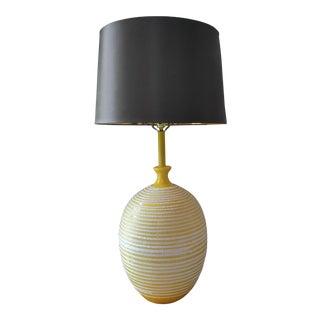 Yellow Fat Lava Ceramic Lamp