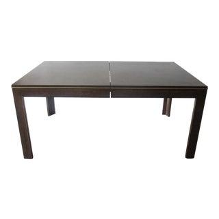 Dark Burl Wood Dining Table