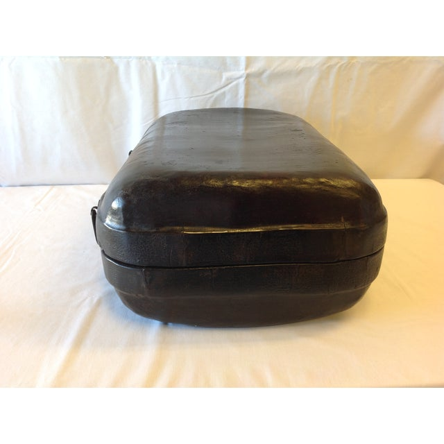Image of Antique Brown Asian Latched Document Box