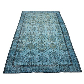 Turquoise Over-Dyed Rug - 5′5″ × 9′10″