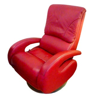 Lane Red Leather Recliner