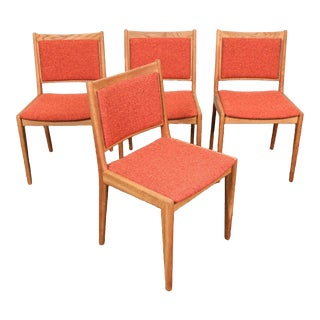 Mid-Century Modern Solid OakDining Chairs - Set of 4