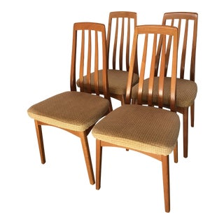 Teak Danish Style Chairs - Set of 4